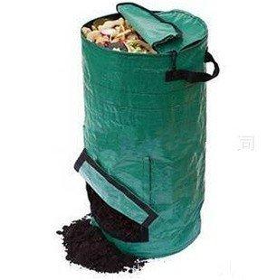 Ez4garden Reuseable Heavy Duty Garden Leaf Waste Bag Yard Compost Bin Composting Fruit Kitchen Waste Fermentation Cali Secrets Growers,Dark Green