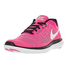 Nike Women's Flex 2016 Rn Pink Blast/White/Black/Elctrc Grn Running Shoe 8 Women US