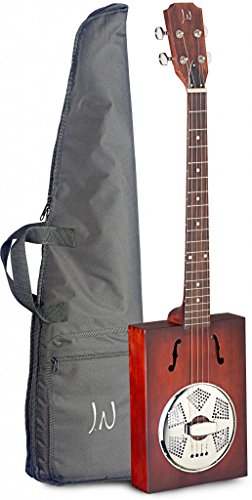 Biscuit Cone Resonator Guitar - James Neligan CASK-PUNCHEON Cask Series Acoustic Cigar Box Guitar with Gig Bag Included