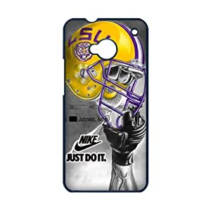 luckhappy123 store Custom NCAA LSU Tigers logo with nike logo black plastic Case for HTC ONE M7 cover