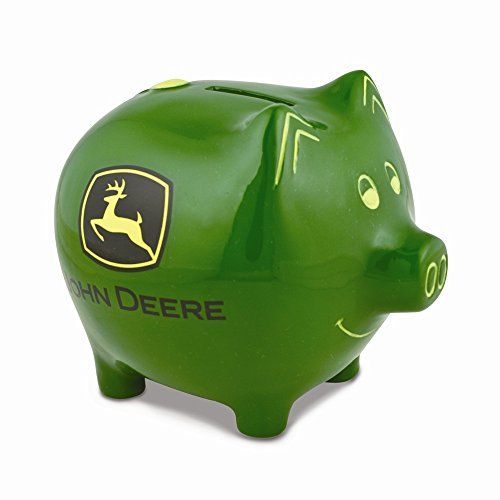 Best Designer Jewelry Polyresin John Deere Logo Piggy Bank