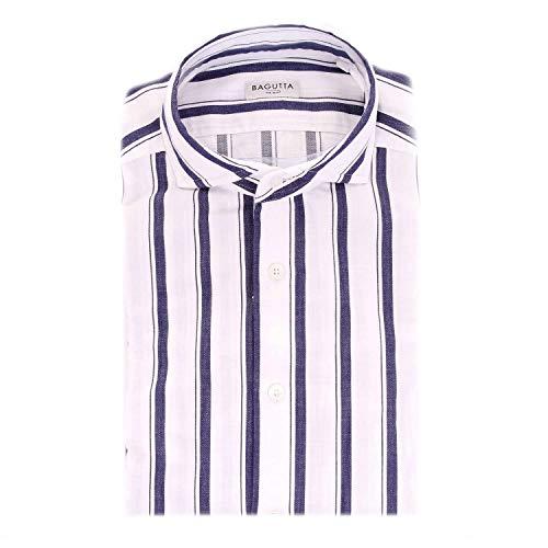 Bagutta Men's Sienab07718white White Cotton Shirt