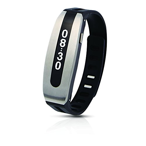 PAPAGO! GOLiFE Care Smart Fitness Band, Activity Tracker, Sleep Monitor, Smart Notification, Text Message, Emails, Social Medias, Messengers, Alarms, Idle Alert (Silver Black) by PAPAGO