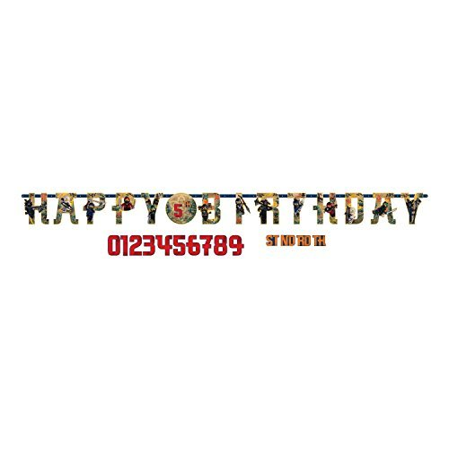 Lego Ninjago Birthday Party Add An Age Jumbo Letter Banner Decoration by Amscan