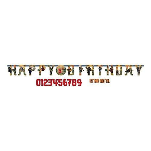 Lego Ninjago Birthday Party Add An Age Jumbo Letter Banner Decoration