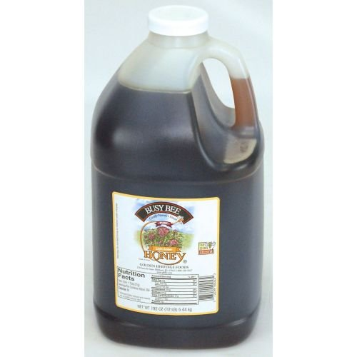 Golden Heritage Foods Light Amber Busy Bee Honey, 192 Ounce Jug -- 4 per case.