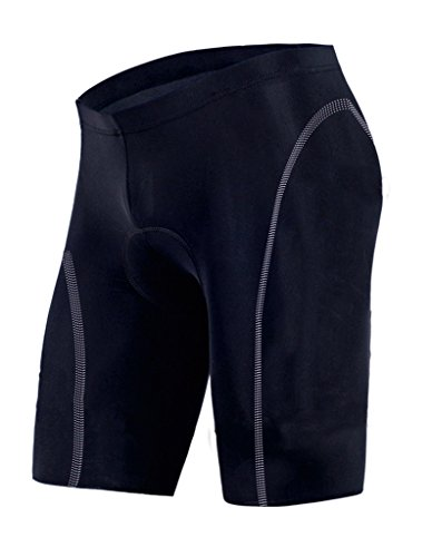 sponeed Men's Biking Shorts Cycle Pants Gel Padded Tights Cycling Shorts Asia XXL/US XL Black
