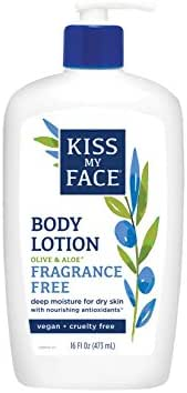 Kiss My Face Sensitive Skin Natural Moisturizer with Olive Oil & Aloe Vera 16 oz