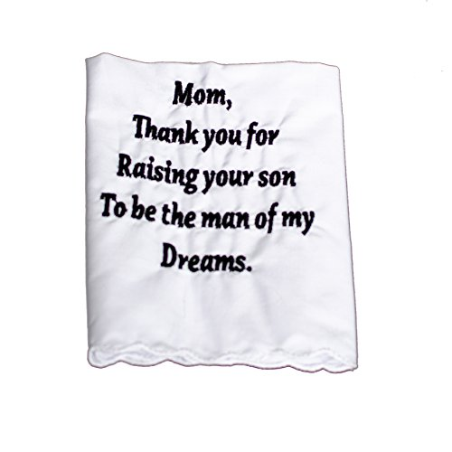 Wedding Tokens Mother of the Groom Wedding Handkerchief Embroidered by