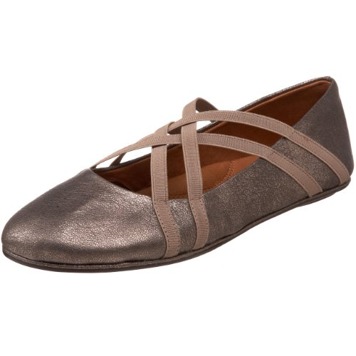 Gentle Souls Women's Bay Braid Ballet Flat,Antique Pewter,8.5 M US