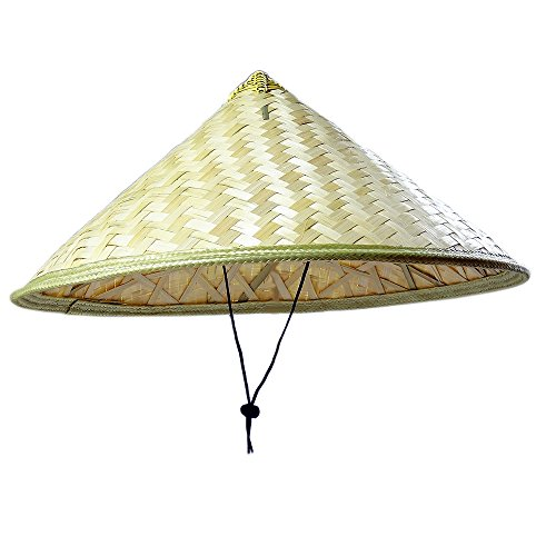Hat Straw Rice (Sunny Hill Pack of 2 Traditional Chinese Adult Oriental Bamboo Straw Cone Garden Fishing Hat Adult Rice Hat)