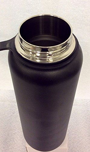 Insulated Stainless Steel Wide Mouth Water Bottle and Beer Growler, 40-ounce by Bargain Home Brew (Image #1)