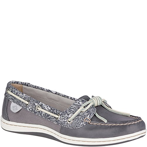 Tie Leather Top Sider Sperry (Sperry Top-Sider Barrelfish Animal Print Boat Shoe)