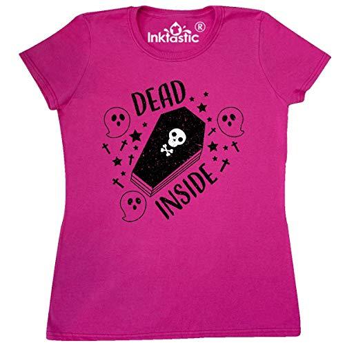inktastic - Halloween Dead Inside Women's T-Shirt XX-Large Cyber Pink 33165