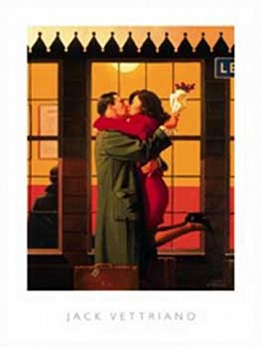 Posters: Jack Vettriano Poster Art Print - Back Where You Belong