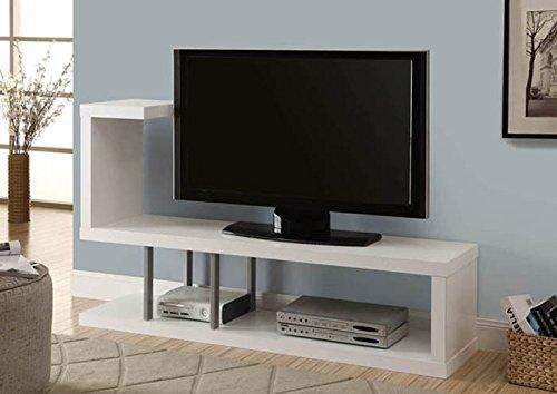 """Monarch Specialties I2551 Hollow Core 60""""L TV Console,White"""