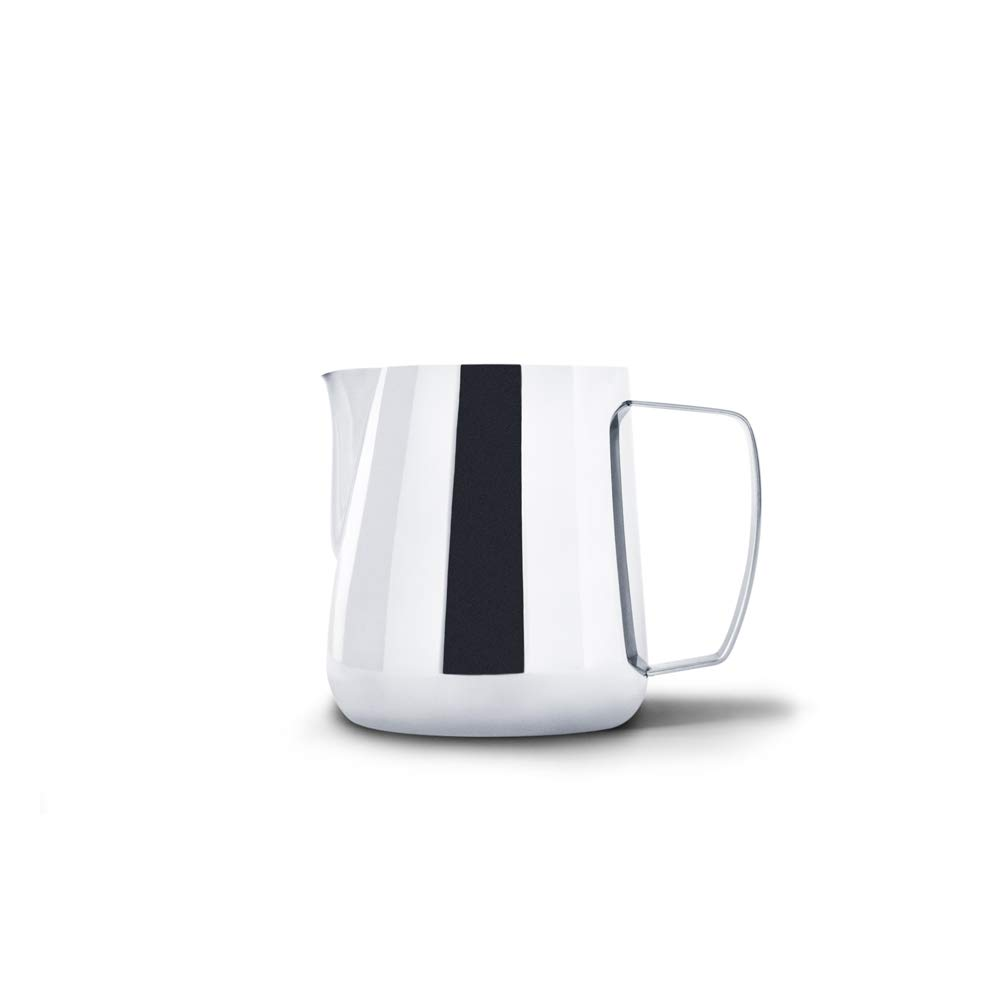 Precision Milk Frothing Pitcher for Professional Latte Art - Barista Hustle by World Champion Barista (Polished Steel, 400ml)