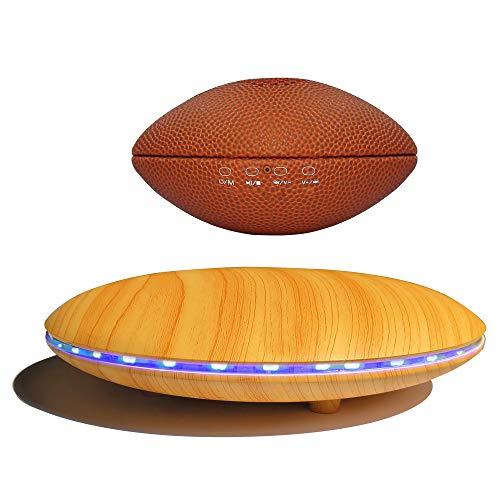 Levitating Speaker, Infinity Orb Floating Speaker Bluetooth 5.0 Magnetic,Football Style 3W Portable Wireless Speaker with LED Light,360 Degree Rotation,for Home Decor,Office Desk, Gift (Yellow)