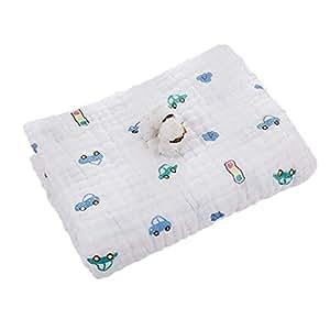 Huayue Toallitas para bebé Muslin Swaddle Blanket Toalla para recién nacido y baño 6 capas Toallitas de algodón para mascotas Toalla extra suave Ducha de algodón orgánico para pieles sensibles