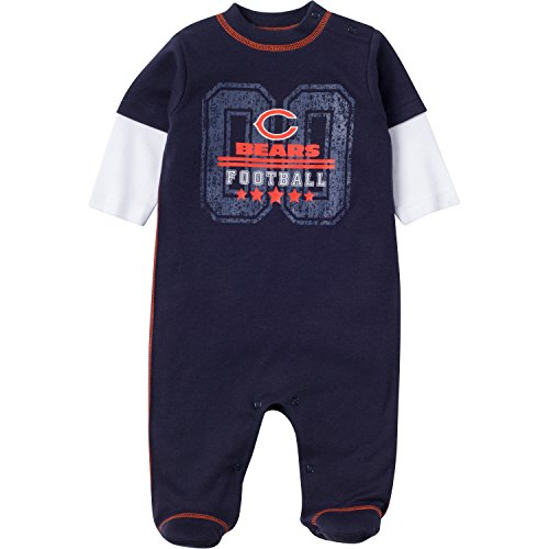 Bears Infant Sleeper - NFL Chicago Bears Unisex-Baby Sleep 'N Play, Navy, 6-9 Months
