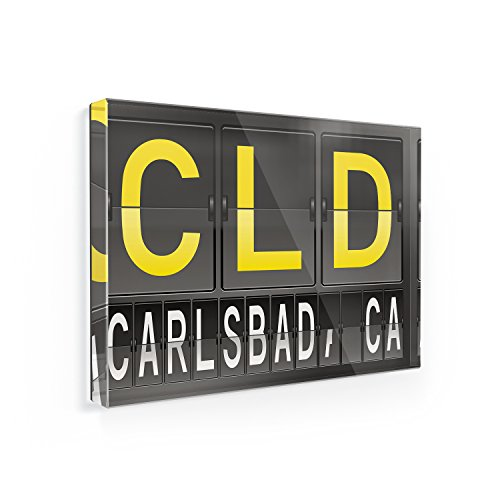 Cld Air (Fridge Magnet CLD Airport Code for Carlsbad, CA - NEONBLOND)