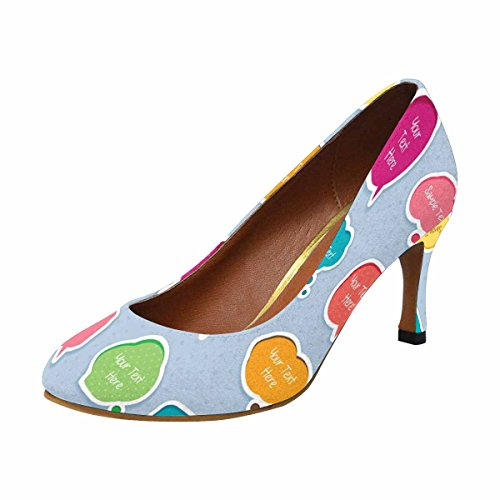 InterestPrint Womens Classic Fashion High Heel Dress Pump Cute Dialog Box Digital Clip Art rGLhoAgk5