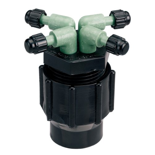 5 Pack - Orbit Drip Irrigation System 4-Port Watering Manifold, 1/4 Inch Dripper Tube, 61004D