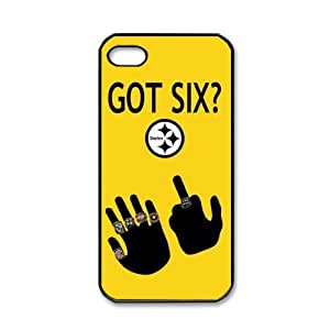 Pittsburgh Steelers GOT SIX WE DO logo iPhone 5 Hard Shells for fans