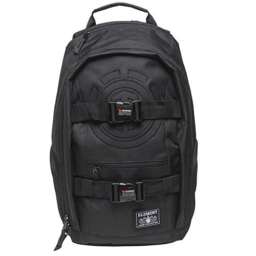 Street Backpack Skateboard - ELEMENT Unisex-Adult's Mohave Backpack with Skate Straps and Laptop Sleeve, All Black, One Size