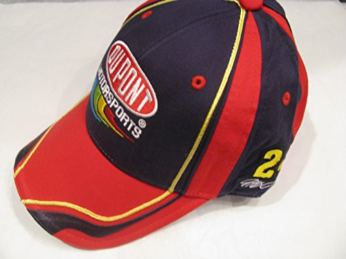 Jeff-Gordon-24-Chase-Authentics-Blue-With-Red-Yellow-Accents-Dupont-Motorsports-Hat-Cap-One-Size-Fits-Most-OSFM-Adjustable-Velcro-Strap