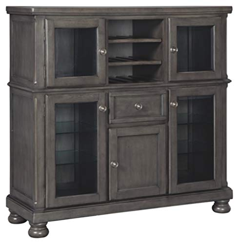 Dining Room Server Station - Signature Design by Ashley D637-76 Audberry Dining Room Server, Dark Gray