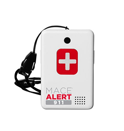 Mace Brand Alert 911 One Touch Direct Connection Emergency Device, Calls 911 with 2-Way Voice, 2.5' x 2' x .75' (80239)