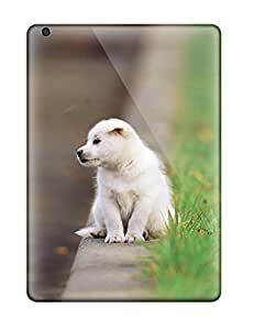 Anti-scratch And Shatterproof White Puppy Phone Case For Ipad Air/ High Quality Tpu Case