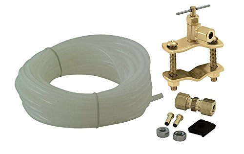 Universal Polyethylene Tubing Ice Maker / Humidifier Installation Kit, ¼'' X 25' Easy to Install, by Unvert USA