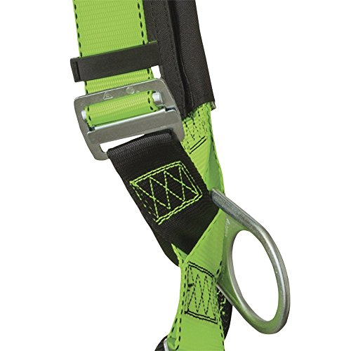 Peakworks V8006110 Peak Pro Series, Full Body Padded Safety Harness, Back D-Ring, (2) Side D-Rings, Stab Lock, Polyester, Universal, Green by Peakworks (Image #2)