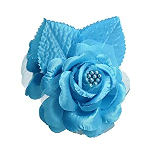 CB 12 Silk Roses Wedding Favor Flower Corsage Pick - Turquoise 15