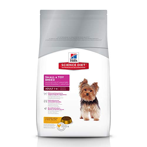 Hill's Science Diet Adult Small Paws Lamb Meal & Brown Rice Recipe  Dry Dog Food, 15.5 lb bag