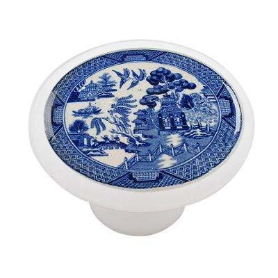 Willow Plate Gloss Ceramic Drawer