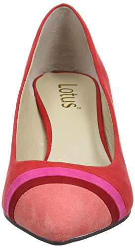 Lotus Women's Gamma Platform Heels Red (Red Micro) Q9mp9RcQ