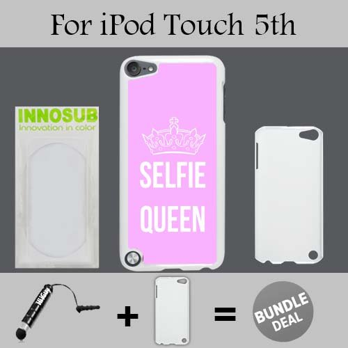 Selfie Queen Custom iPod 5/5th Generation Cases-White-Plastic,Bundle 2in1 Comes with Custom Case/Universal Stylus Pen by innosub (Ipod 5th Generation Selfie Cases)