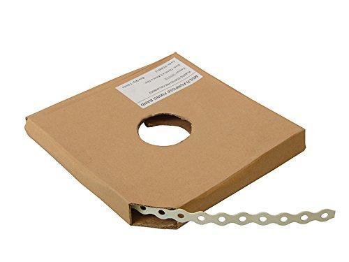 White Plastic Coated Pre-Galvanised Band 17mm x 0.8 x 10m Box 1