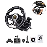 Dual-Motor Feedback Driving Force G29 Racing Wheel, Support PC/PS3/PS4/X-ONE Computer Game Steering Wheel Simulation Racing Simulation Driving School Car for for Xbox One