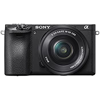 "Sony Mirrorless Digital Camera Bundle with 2.95"" LCD, Black (ILCE6500KIT)"