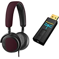B&O PLAY by Bang & Olufsen Beoplay H2 On-Ear Headphone, Deep Red Bundle & AudioQuest - DragonFly Black USB DAC/Headphone Amplifier