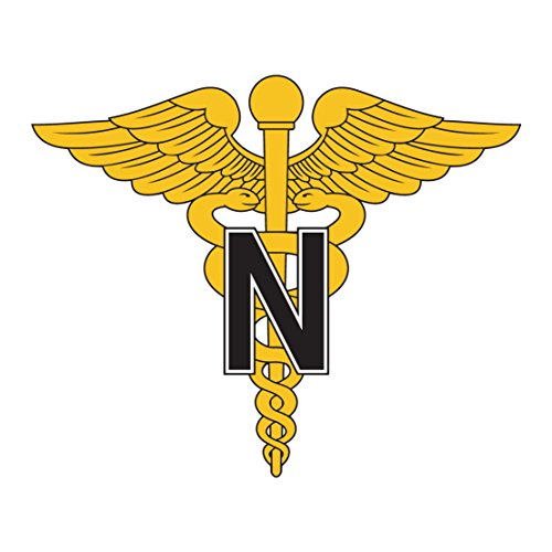 (US Army - Nurse Corps Emblem - 3.5 Inch Tall Full Color Decal)
