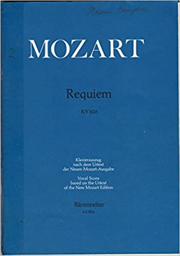 Requiem Vocal score English and Latin Edition