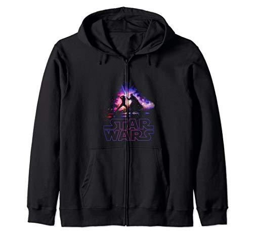 Star Wars Luke Skywalker Darth Vader Lightsaber Silhouette Zip ()