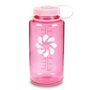 Nalgene Tritan Wide Mouth BPA-Free Water Bottle, Pink w/ Pink Cap, 32-Ounces