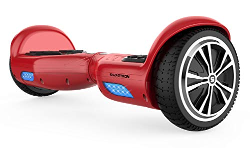 Swagtron Swagboard Twist 881 Lithium-Free UL2272 Certified Hoverboard with Startup Balancing, Dual 250W Motors (Red)