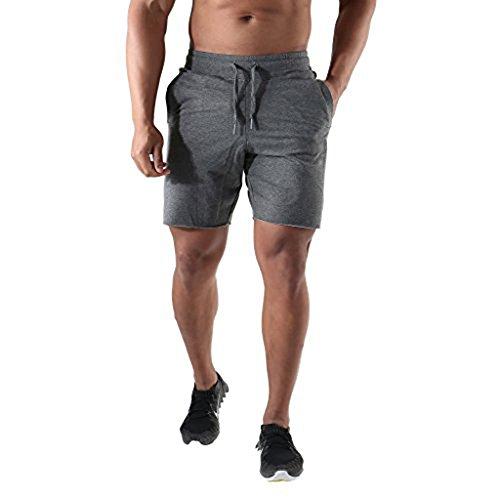 Youth No Pocket Sweatpant - EVERWORTH Men's Elastic Gym Workout Training Shorts Running Cotton Sweatpants Short with Drawstring and Pockets Dark Grey L Tag XXL